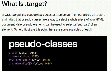 What's the Deal With :Target in CSS?