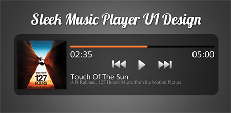 Sleek Music Player UI Design