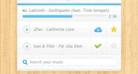 PSD UI Simple Design - Music Player