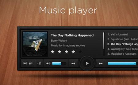 PSD Audio Player