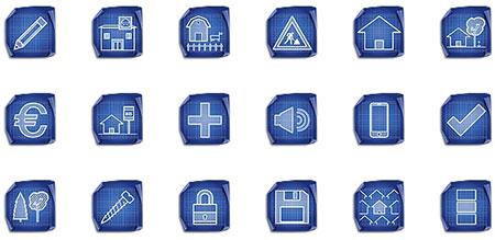 Architecture Blueprint Icon Set