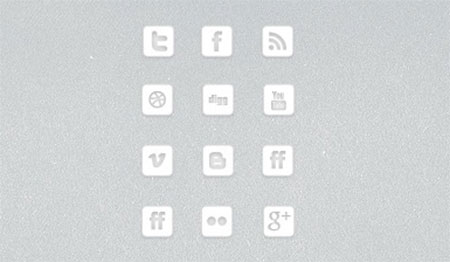 Minimalistic Mini Social Media Icons