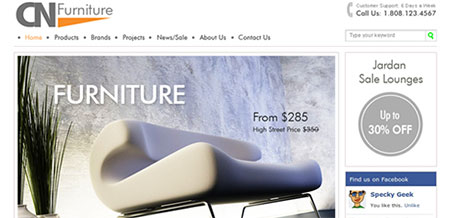 CN Furniture and Interior Web Template