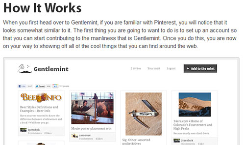 Gentlemint: Pinterest For Men