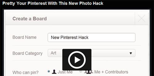 Pretty Your Pinterest With This New Photo Hack