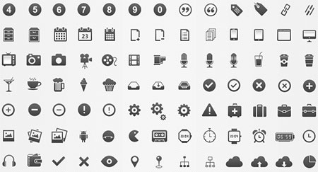 350 Pixel-Perfect And Free Glyphs Icons