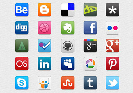 Social Icons Pack for Designers and Developers