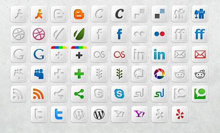 29 Creamy Social Icons