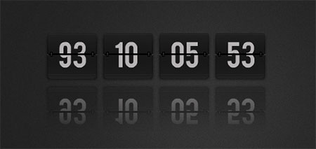 XML flash countdown