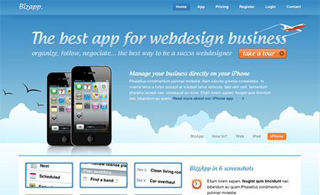 How To Design An iPhone App Website Layout