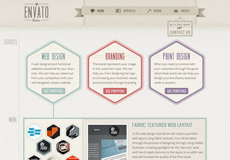 Create a One-Page Retro Web Design Layout