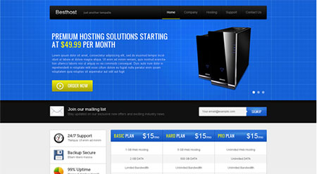 Create a Web Hosting Landing Page