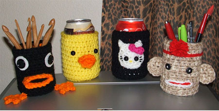 asst'd can cozy's OR pencil cups
