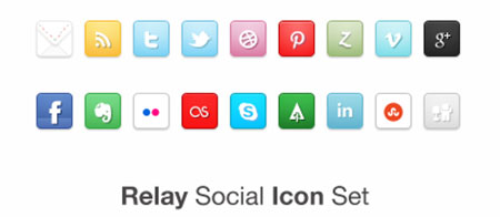 Relay Social Icon Set