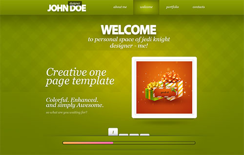 Creative Responsive Onepage by Olegnax
