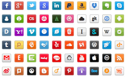 Zocial Button Set: Social CSS3 Buttons