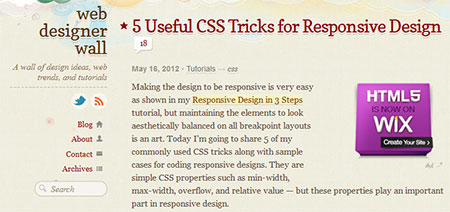 5 Useful CSS Tricks for Responsive Design