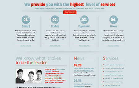 Website Template for Business Project. jQuery Powered Slider