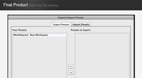 Easily Import and Export Presets in Photoshop CS6