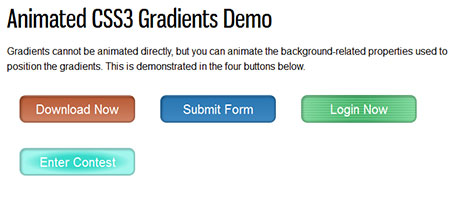 Animated CSS3 Gradients Demo