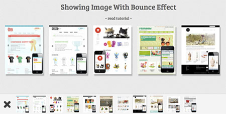 Showing Imag with Bouncing Effect