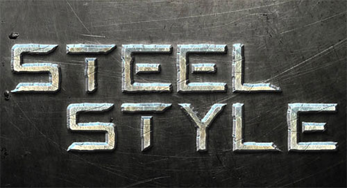 Create a Steel Text Effect
