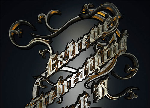 Create a Metallic Type Treatment