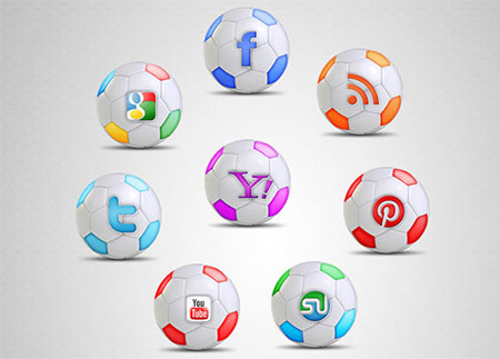 Football Social Icon Set