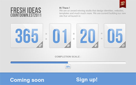 Countdown page