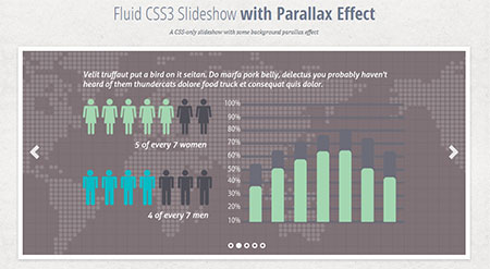 Fluid CSS3 Slideshow with Parallax Effect