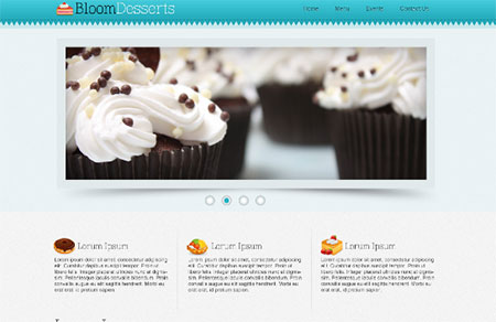 Design a Food/Cafe Website Template in Photoshop