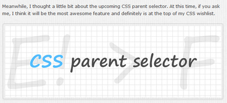 Thoughts on upcoming CSS parent selector