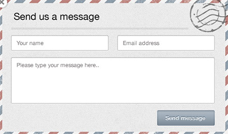 Modal Contact Form Template