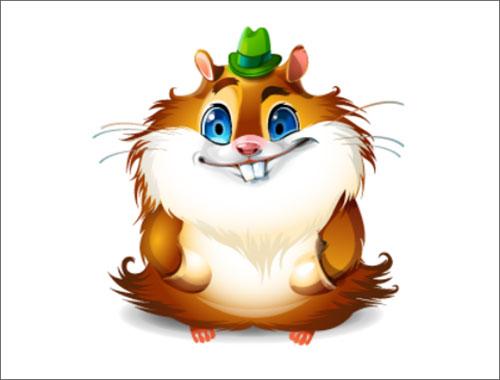 Hamster character by Evgeniya Rodina
