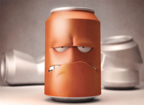 3D Angry can by Ludovic Riffault