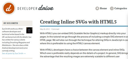 Creating Inline SVGs with HTML5