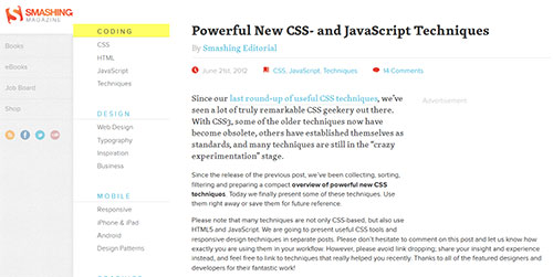 Powerful New CSS- and JavaScript Techniques