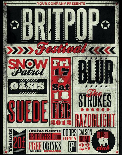 Typography Gig Poster 1 by ZamfirAugustin