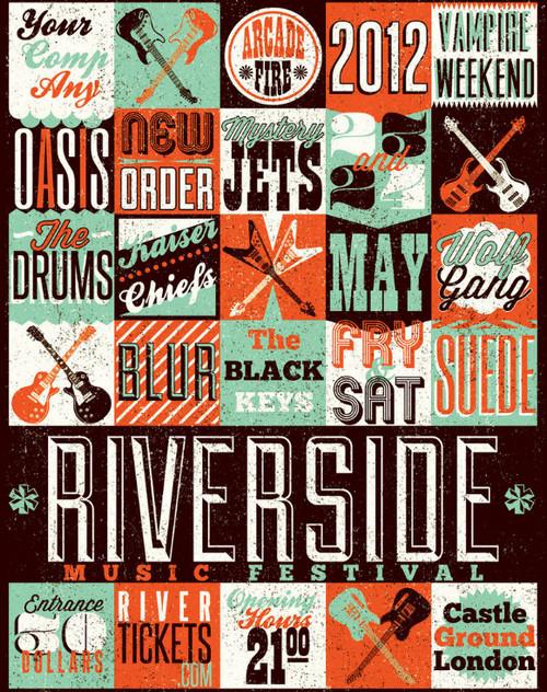Typography Gig Poster 3 by ZamfirAugustin