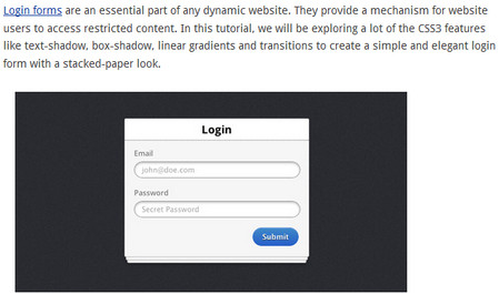 Creating A Stacked-paper Effect Login Form