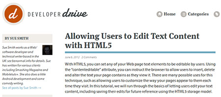 Allowing Users to Edit Text Content with HTML5