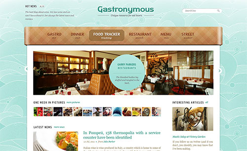 Gastronymous PSD Template