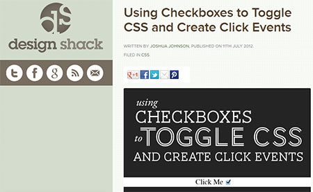 Using Checkboxes to Toggle CSS and Create Click Events