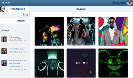 Instagram Mac App UI