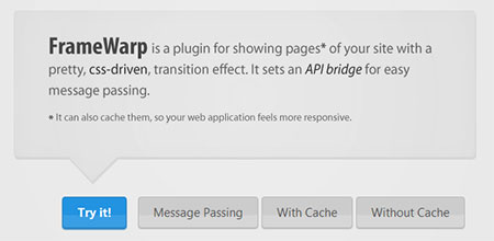 FrameWarp – jQuery plugin for displaying pages in a neat overlay
