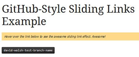 GitHub-Style Sliding Links