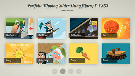 Portfolio Flipping Slider Using jQuery & CSS3
