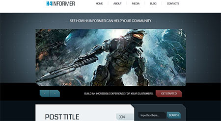 H4-Informer – A Fully Layered PSD with XHTML-CSS Template