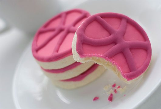 Dribbble Cookies by Geri Coady