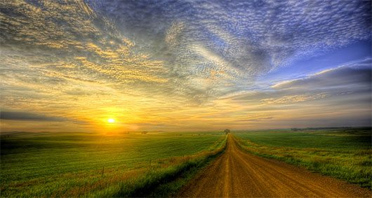 Country Road Sunrise by Rikk Flohr